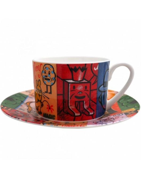Hippy Magic/Lunchbox By Gary Taxali Cup & Sauc...