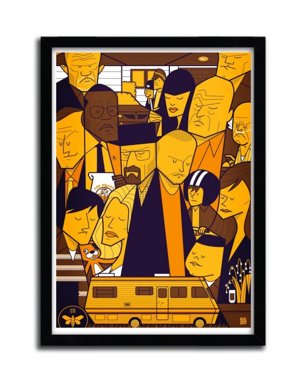 Breaking Bad Yellow by Ale Giorgini