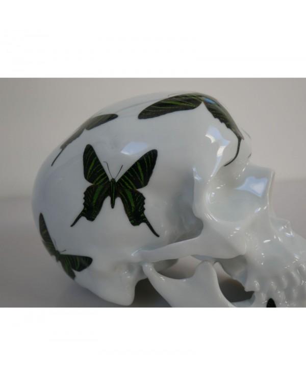 Skull Green Butterflys by Noon