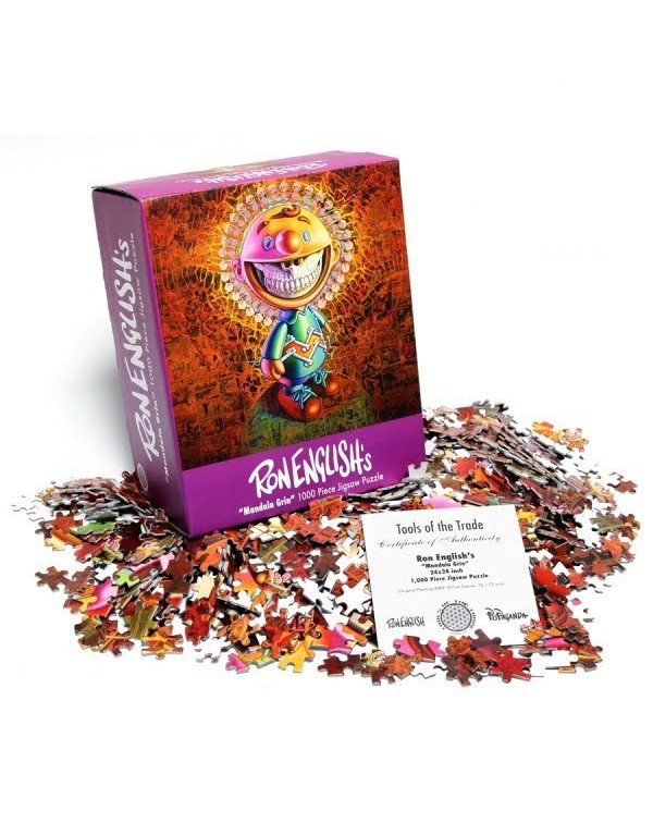 "Ron English ""Mandala Grin"" Jigsaw Puzzle"