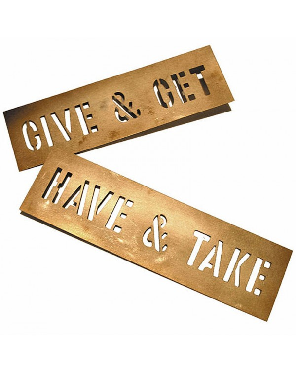 HAVE and TAKE, GIVE and GET Stencil Set by Lawrenc...